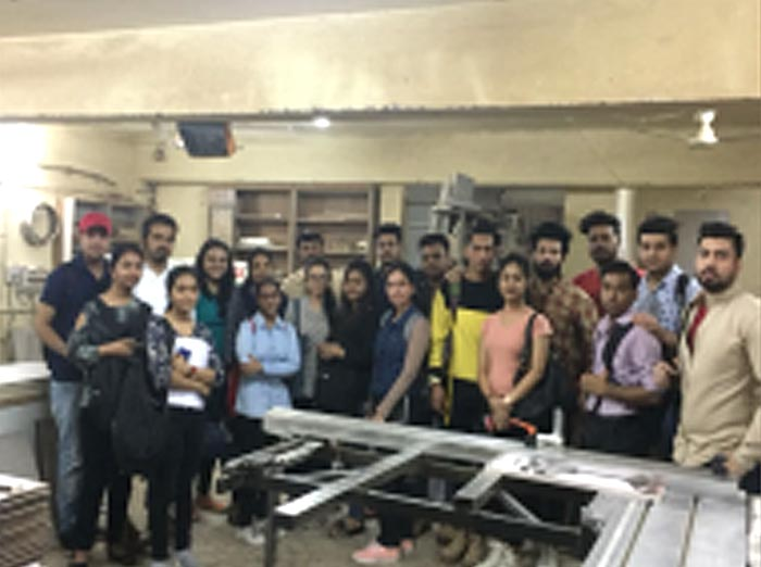 Industrial Visit of Interior Designing Students