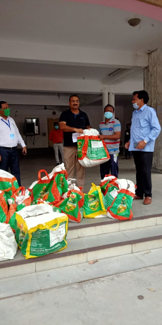 50 dry ration packets handed over to City Magistrate Office Greater Noida